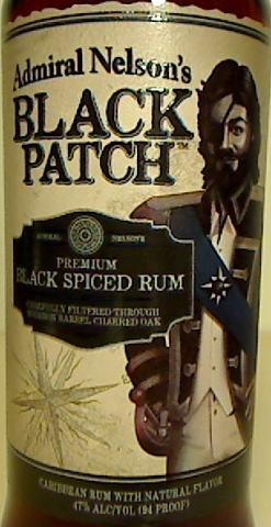 Admiral Nelsons Black Patch Spiced Rum